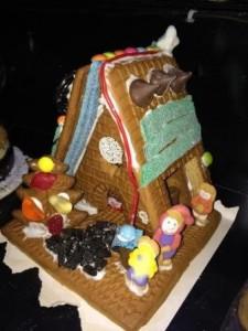 Gingerbread Passive House baked by GreenHomeNYC Volunteer Jordan Bonomo