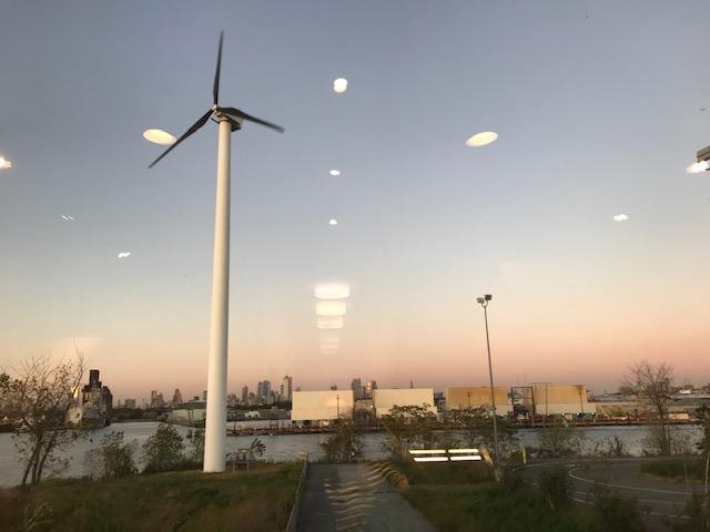 View on the wind turbine